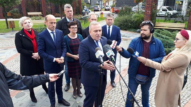 Grzegorz Schetyna w Gliwicach: Z PiS Polska będzie wyglądać jak kamienica Mariana Banasia