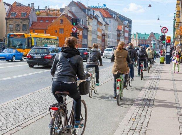 Rower jest bardzo popularny w Kopenhadze