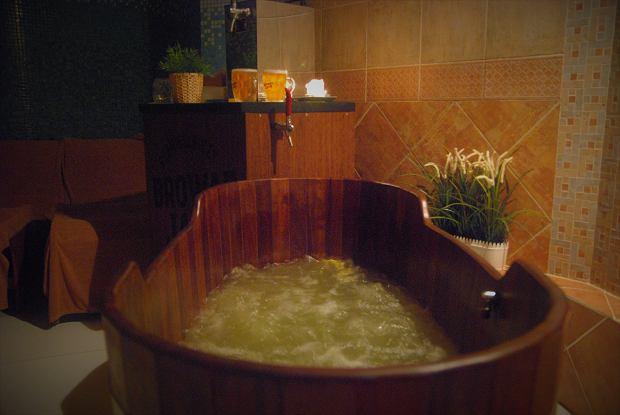 Kąpiel w suszu piwnym i piwko do woli