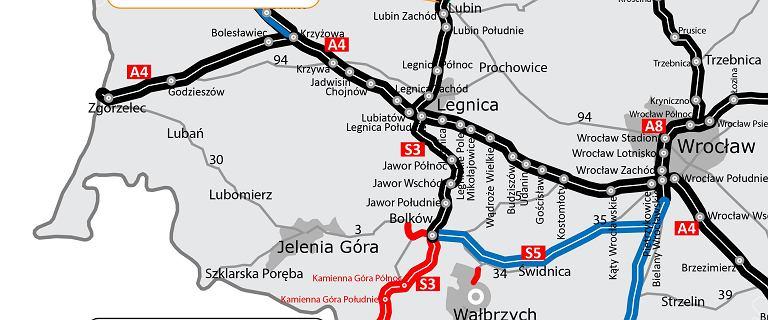 Są plany na ostatni odcinek S3 pod Legnicą. Trzeba było znaleźć nowego wykonawcę