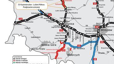 S3 Kaźmierzów - Lubin Północ.