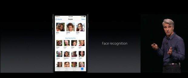 iOS10 rozpozna twarze