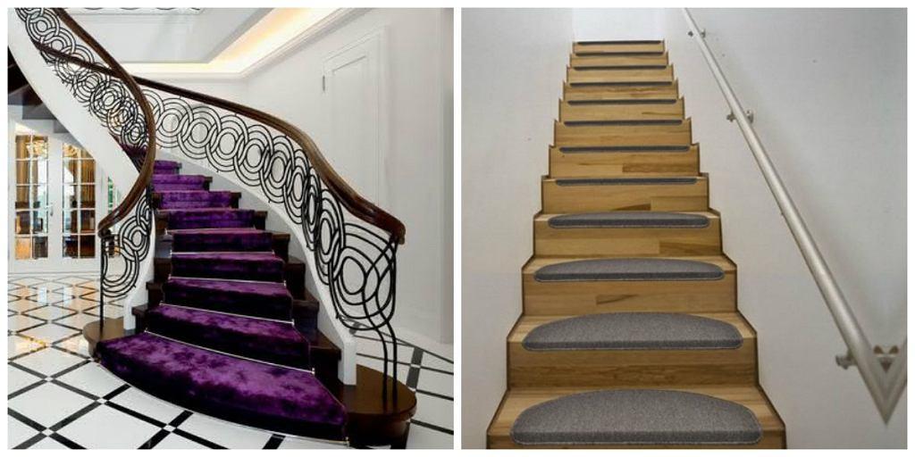 Chodnik dywanowy na schodach