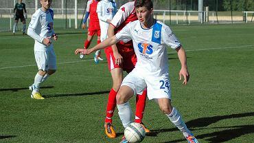 Lech Poznań - Xerez CD 4:0 w sparingu rozegranym w Costa Ballena. Dawid Kownacki