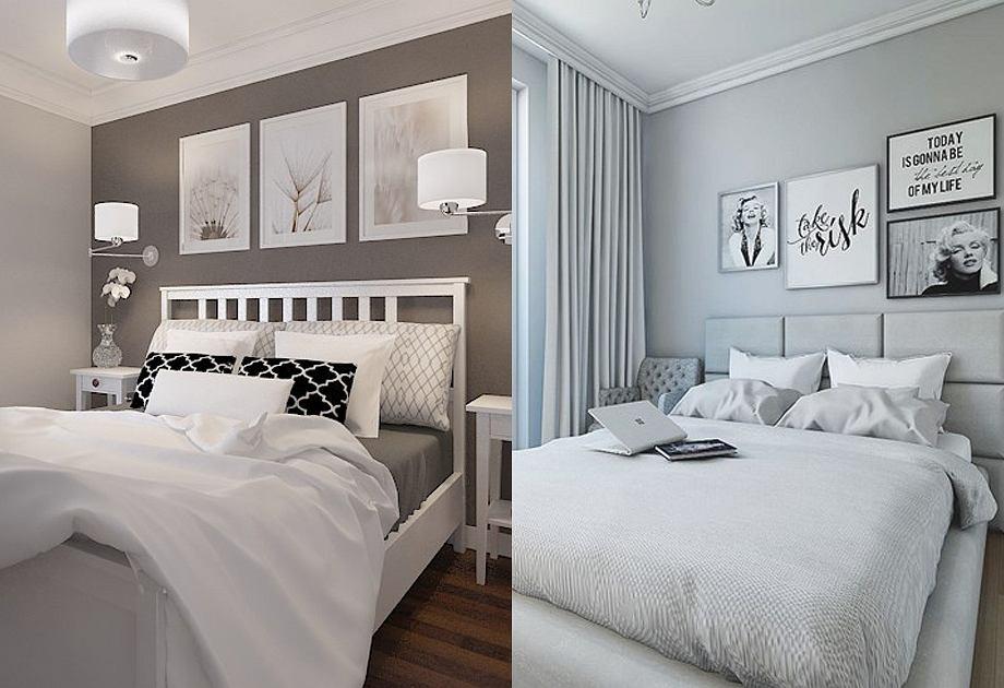 Szara sypialnia - inspiracje