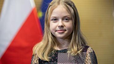 Lublin. Alicja Tracz podczas konferencji prasowej na temat swojego występu w finale konkursu Eurowizja Junior
