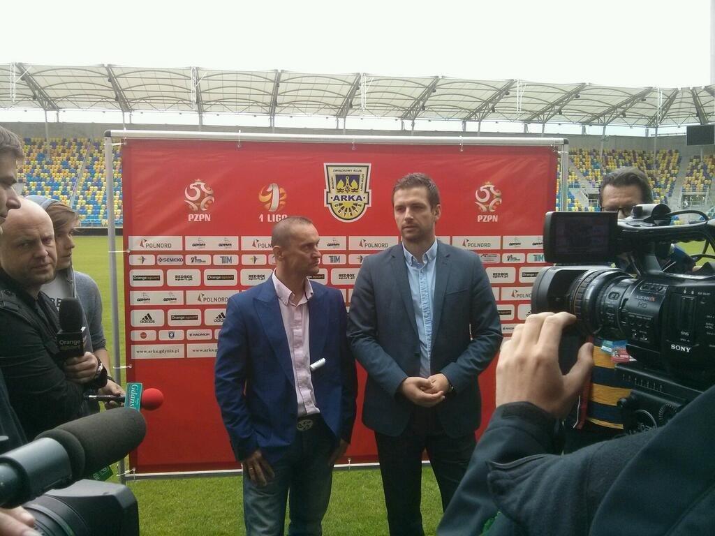 Dariusz Dźwigała na zdjęciu z prezesem Wojciechem Pertkiewiczem (z prawej)