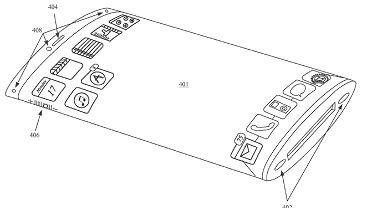 iPhone z zaokrąglonym ekranem - wniosek patentowy