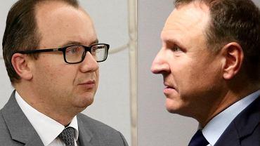 Adam Bodnar i Jacek Kurski (montaż Agencja Gazeta)