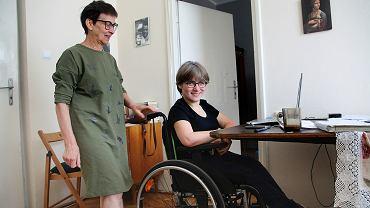 Dorota Orłowska z mamą