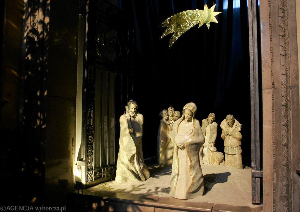 Szopka bożonarodzeniowa w kościele św. Anny w Warszawie
