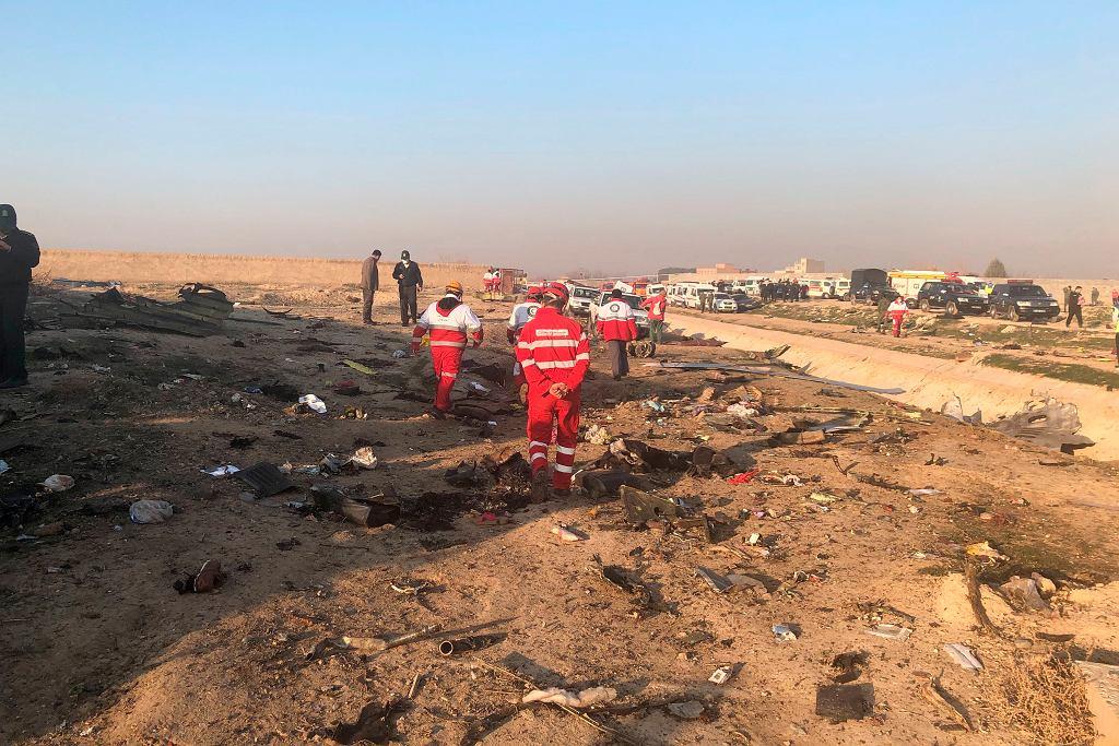 W Iranie rozbił się ukraiński samolot pasażerski