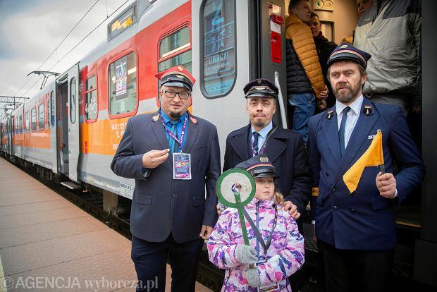 28. Finał WOŚP w Białymstoku. Odjazd specjalnego 'orkiestrowego' pociągu do Knyszyna