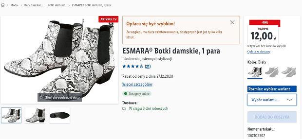 Lidl sprzedaje hitowe botki za mniej niż 20 zł
