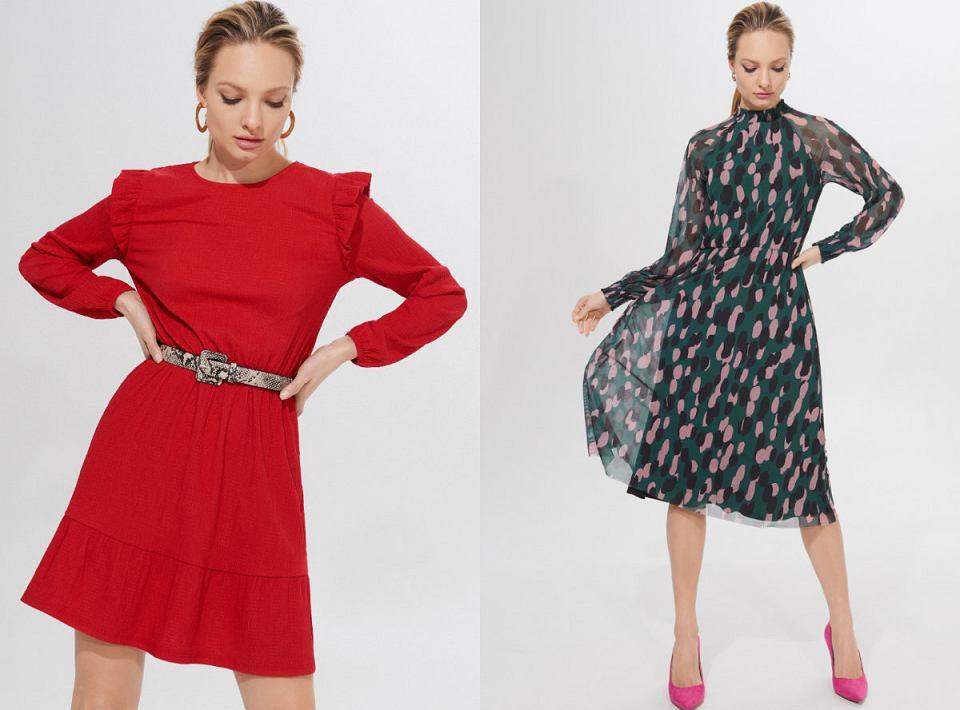Sukienki z sieciówki w zimowej odsłonie