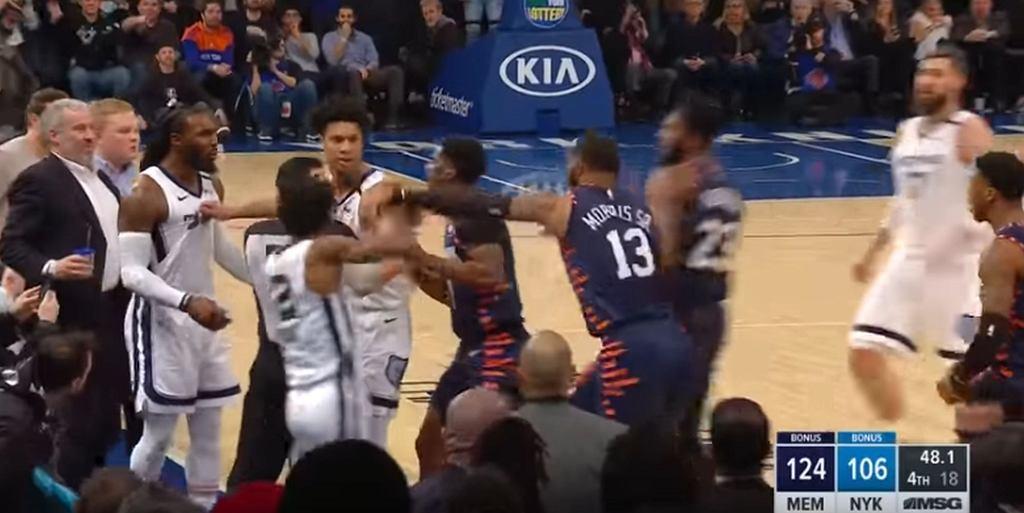 Bójka podczas meczu NBA