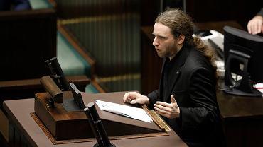 Dobromir Sośnierz podczas bloku głosowań w Sejmie 13 lutego 2020