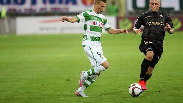 Lechia - Cracovia 0:1. Z lewej Michał Mak