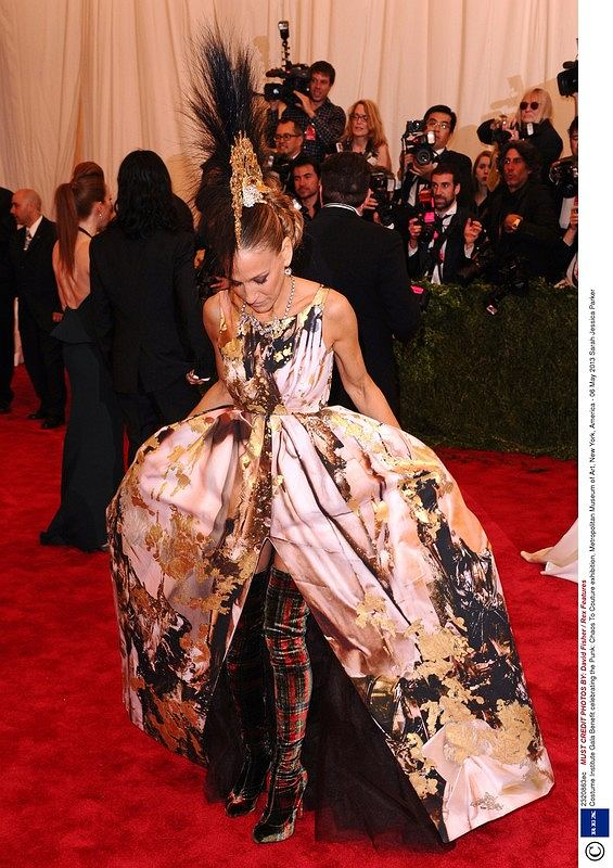 Mandatory Credit: Photo by David Fisher / Rex Features (2320863ec)  Sarah Jessica Parker  Costume Institute Gala Benefit celebrating the Punk: Chaos To Couture exhibition, Metropolitan Museum of Art, New York, America - 06 May 2013