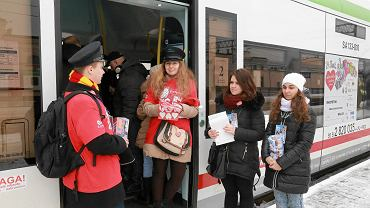 WOŚP. Z dworca w Białymstoku odjeżdża orkiestrowy pociąg