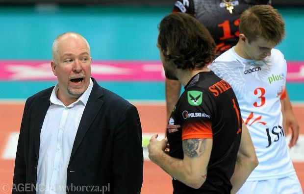 Mark Lebedew jeszcze jako trener Jastrzębskiego Węgla