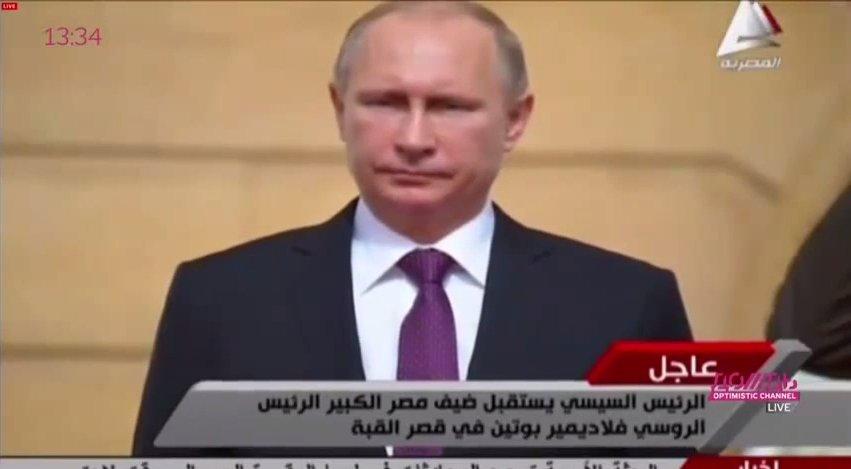 Putin w Egipcie