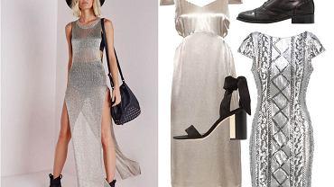 Metaliczne sukienki - gdzie znaleźć i do czego nosić