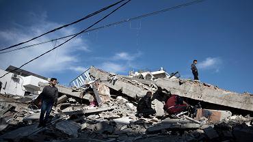 5.05.2019, Gaza, zniszczenia po nalocie izraelskich sił powietrznych.