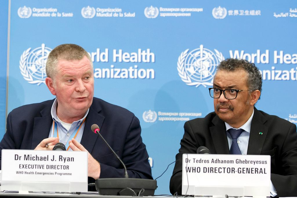 Michael Ryan i Tedros Adhanom Ghebreyesus szefowie WHO