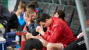 Piłkarze Widzewa po meczu z GKS Bełchatów
