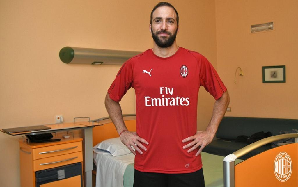 Gonzalo Higuain zawodnikiem AC Milan