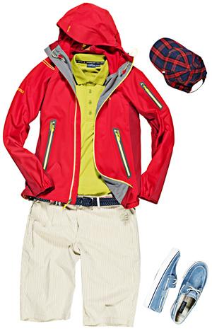 Moda męska w góry i na miasto, góry, moda męska, KURTKA  Marmot  KOSZULKA POLO  Chervo Sports  SPODENKI  Chervo Sports CZAPKA  Conte of Florence BUTY  Sperry