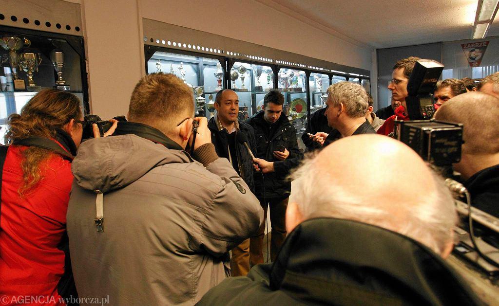 Konferencja prasowa Socios Górnik i Górnika w lutym 2015 roku