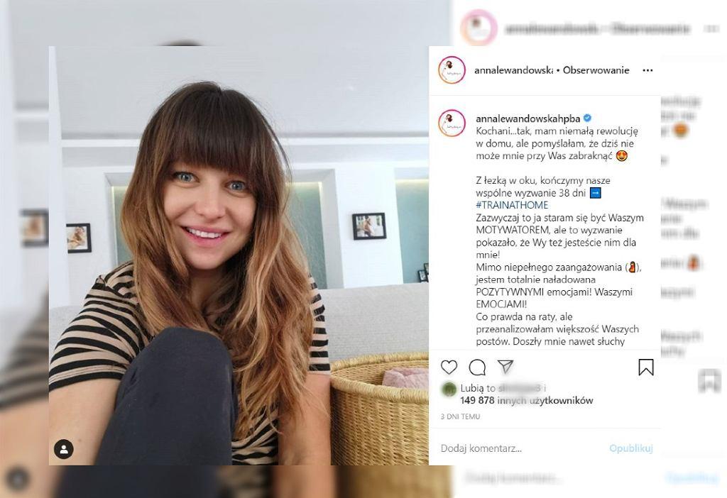 Anna Lewandowska pokazała się po porodzie