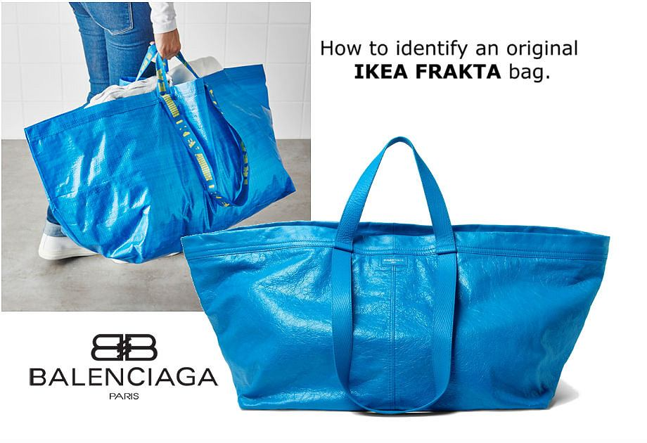 Frakta Z Ikea Czy Niebieska Torba Balenciaga
