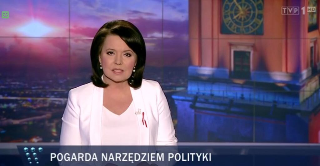Danuta Holecka, prezenterka 'Wiadomości' TVP