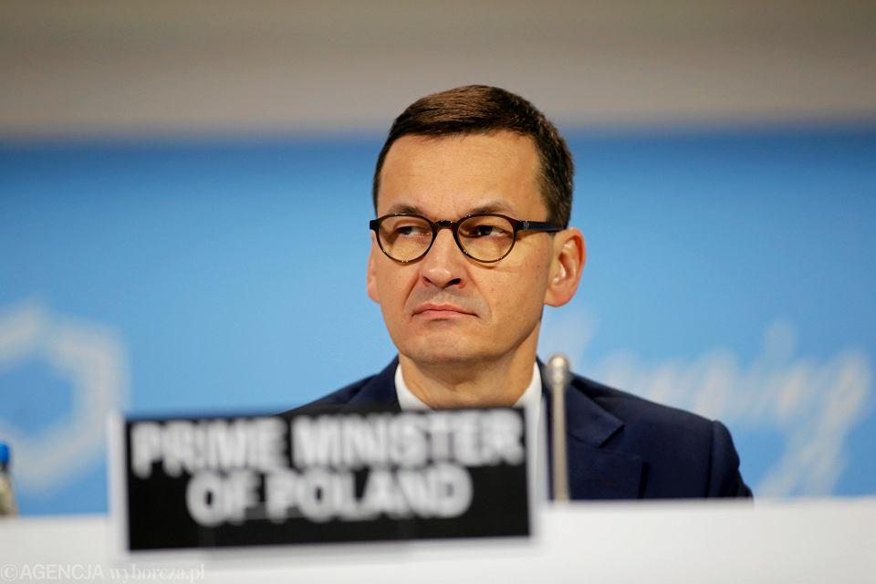 Premier Mateusz Morawiecki podczas szczytu klimatycznego COP24
