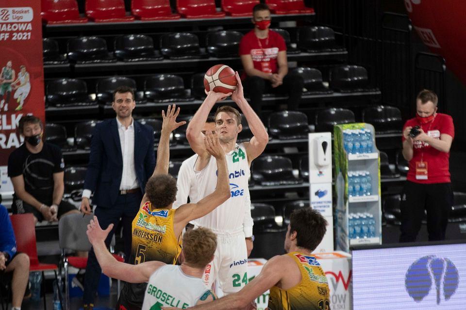 89:75 wygrał Enea Zastal BC Zielona Góra w pierwszym meczu finałów EBL 2020/21 ze BM Slam Stalą Ostrów Wlkp.