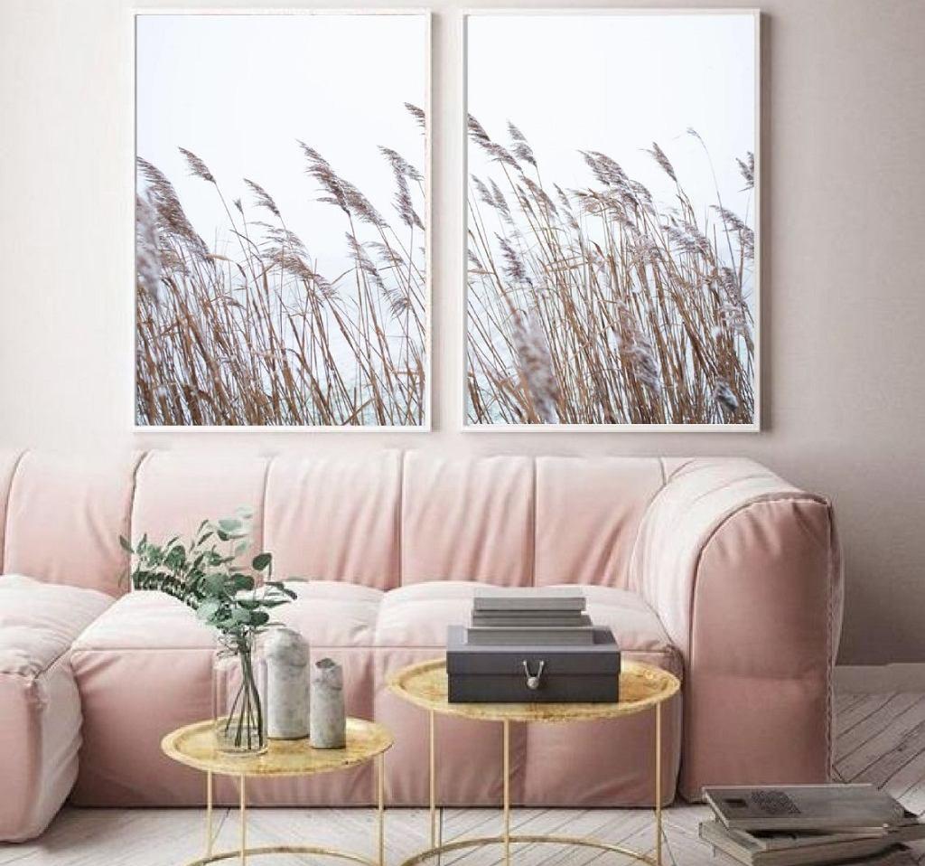 Motyw trawy pampasowej na plakacie