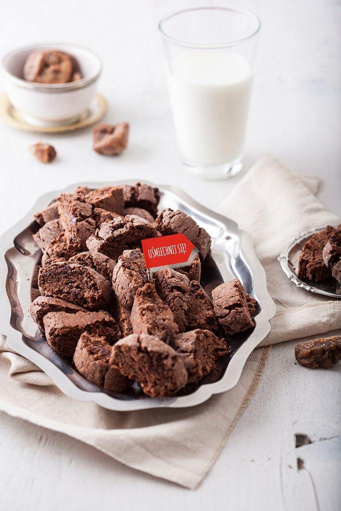 Delecta - czekoladowe biscotti z figami