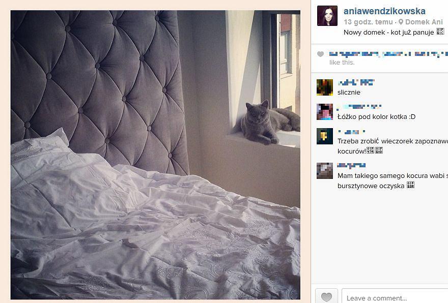 Nowa sypialnia Anny Wendzikowskiej