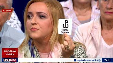 Radna Olga Siemieniuk w programie 'Studio Polska' w TVP Info