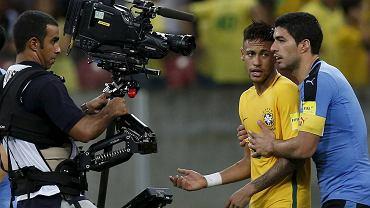 Brazylia - Urugwaj 2:2. Neymar i Luis Suarez
