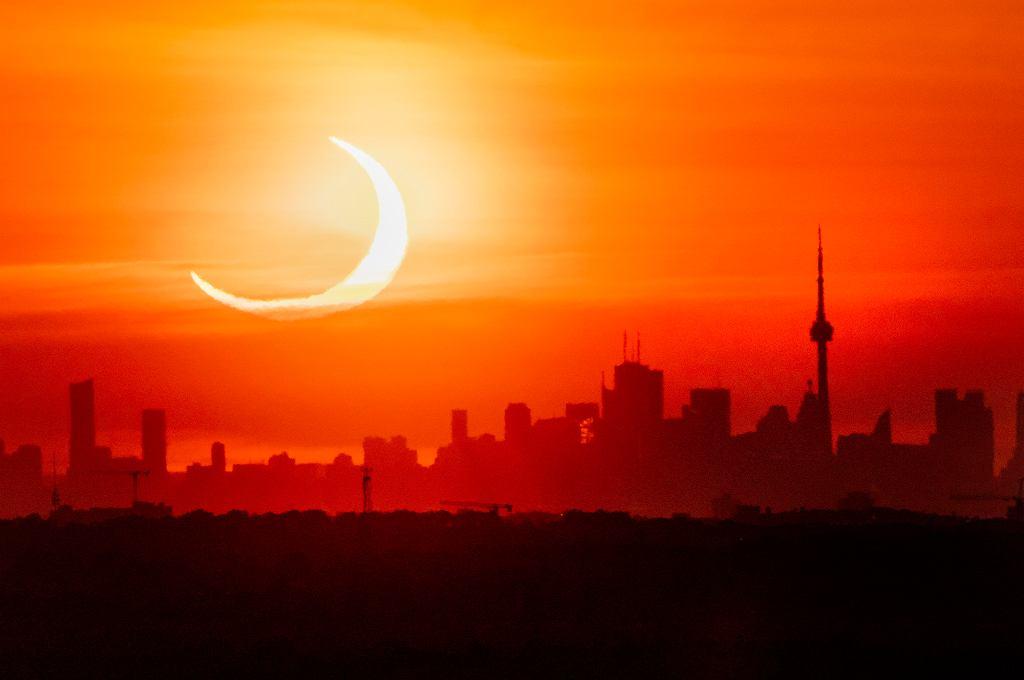 10.06.2021 Zaćmienie Słońca w Toronto