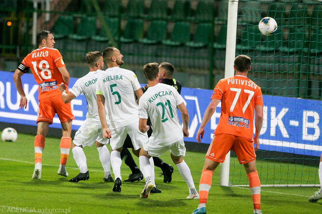 Warta Poznań - Bruk-Bet Termalica Nieciecza 1:0 w półfinale barażów o ekstraklasę