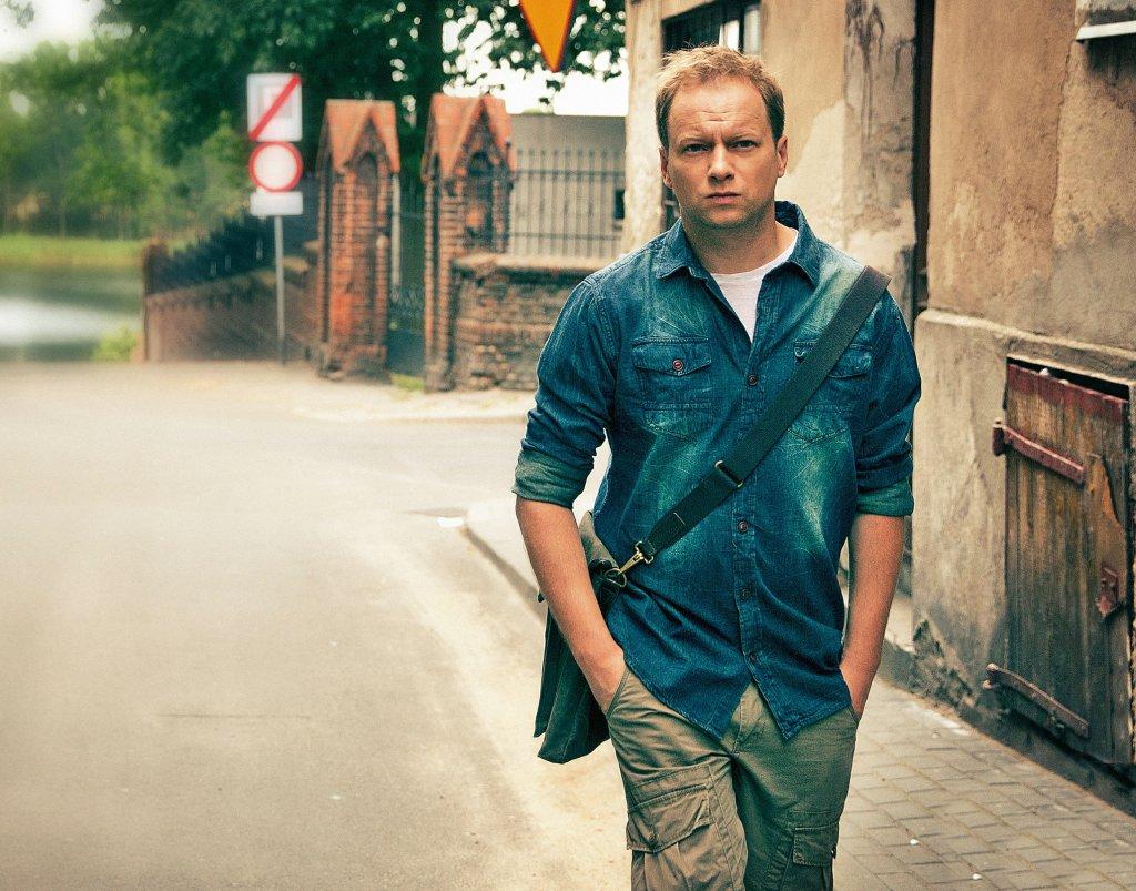 Maciej Stuhr na planie