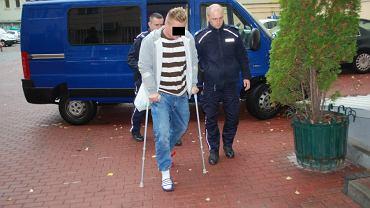 35-latek podczas zatrzymania przez policję