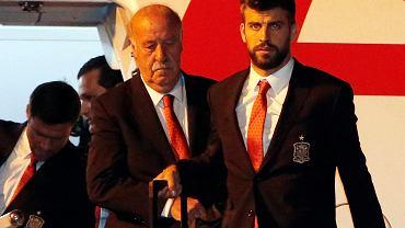 Vicente Del Bosque i Gerard Pique