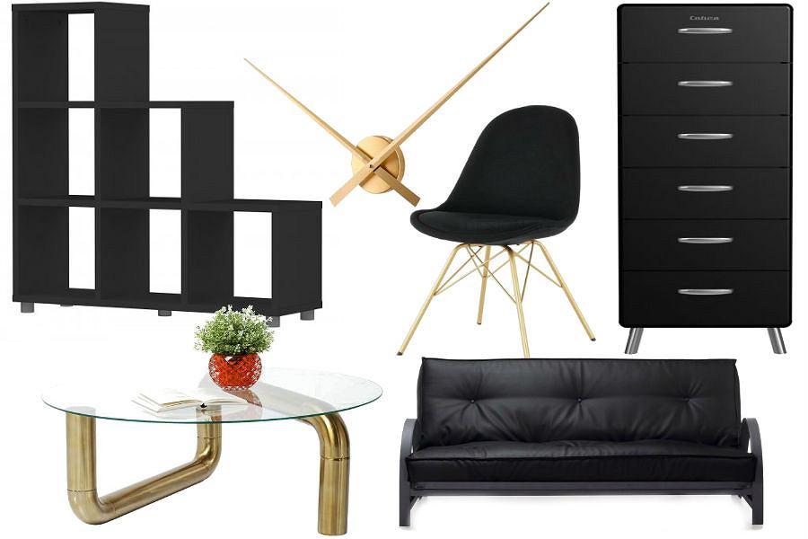Złoto i czerń - piękne połączenie w mieszkaniu