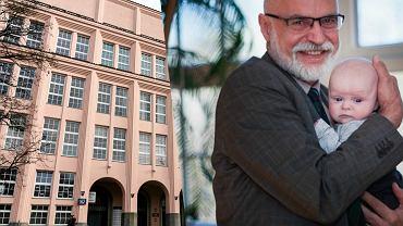 Prof. Marek Rocki, rektor SGH z wnuczką